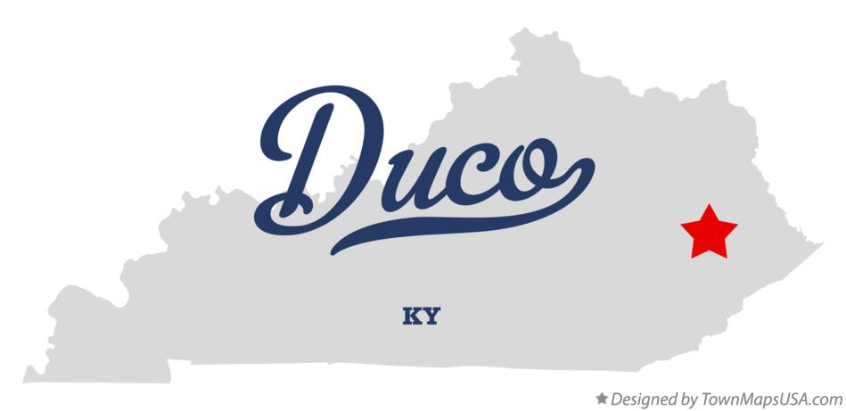 Map of Duco Kentucky KY