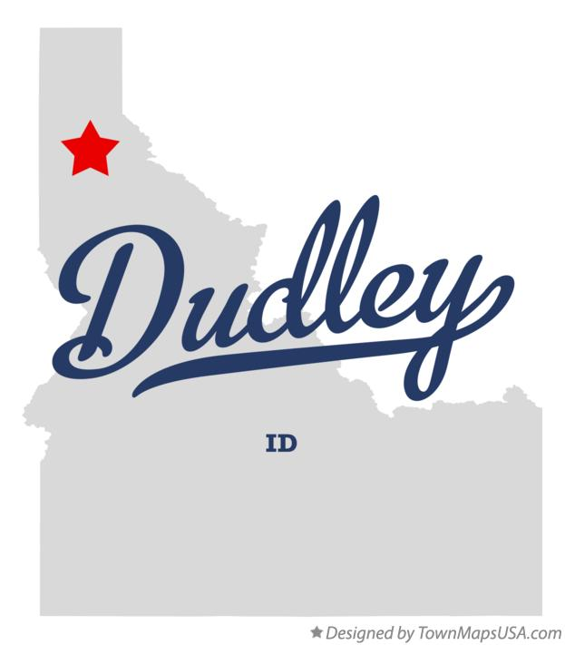 Map of Dudley Idaho ID