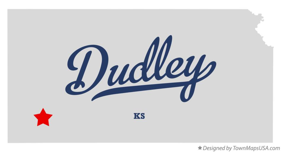 Map of Dudley Kansas KS