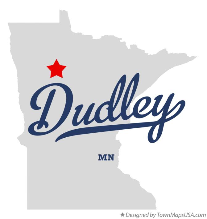 Map of Dudley Minnesota MN