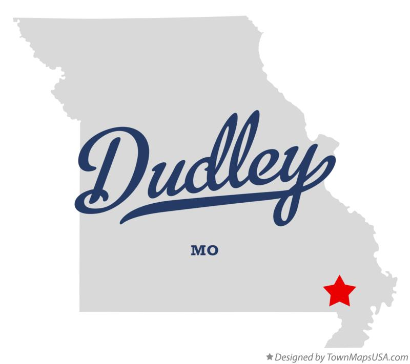 Map of Dudley Missouri MO