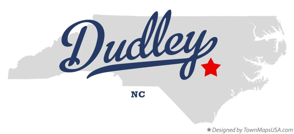 Map of Dudley North Carolina NC