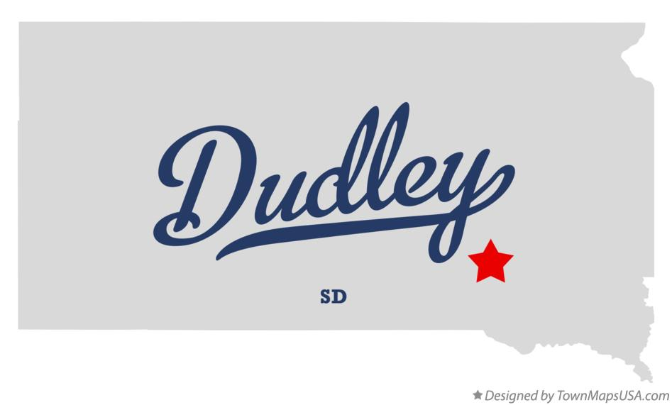 Map of Dudley South Dakota SD