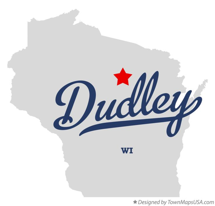 Map of Dudley Wisconsin WI