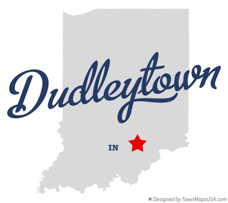 Map of Dudleytown Indiana IN