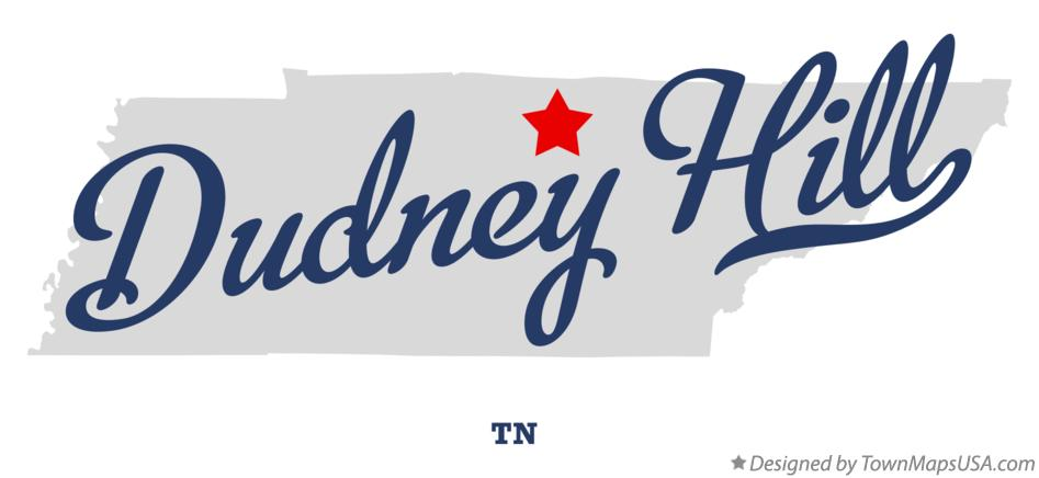 Map of Dudney Hill Tennessee TN