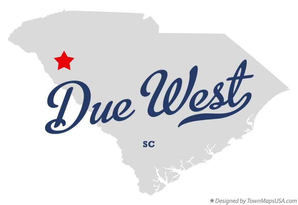 Map of Due West South Carolina SC