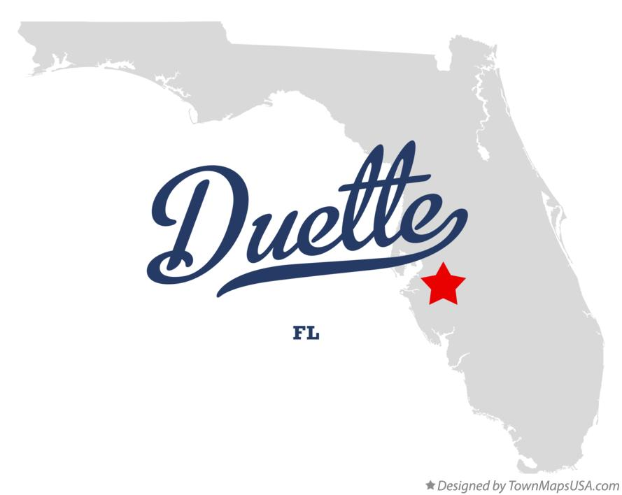 Map of Duette Florida FL