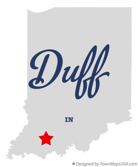 Map of Duff Indiana IN