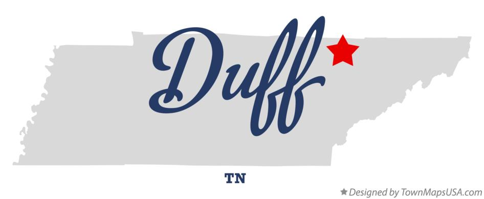 Map of Duff Tennessee TN