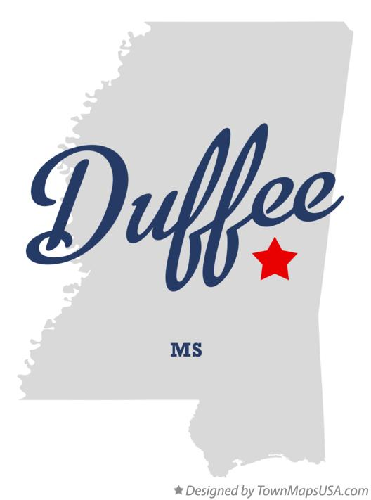 Map of Duffee Mississippi MS