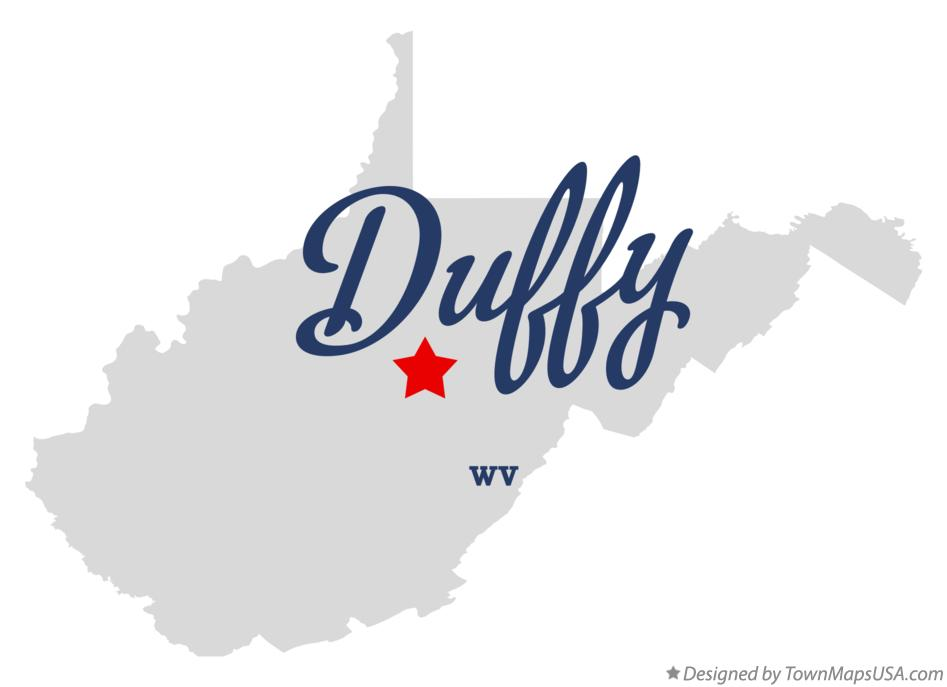 Map of Duffy West Virginia WV