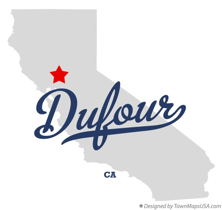 Map of Dufour California CA