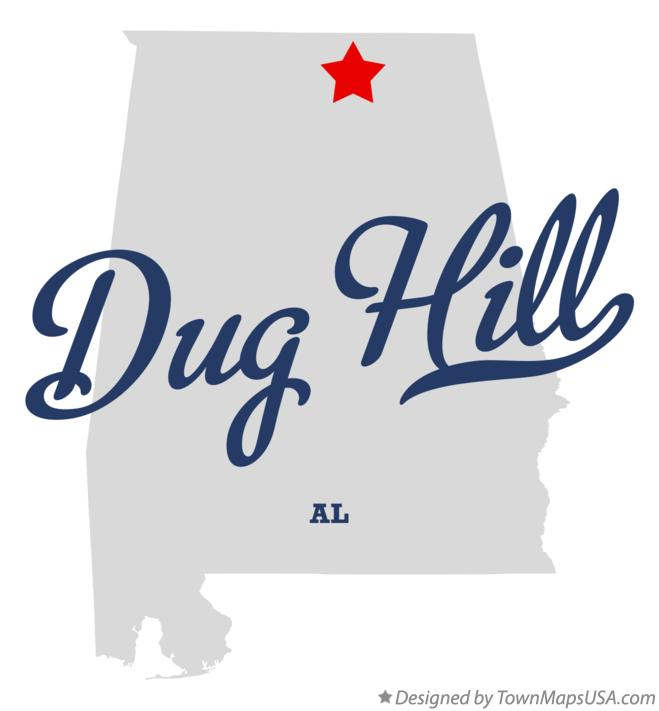 Map of Dug Hill Alabama AL