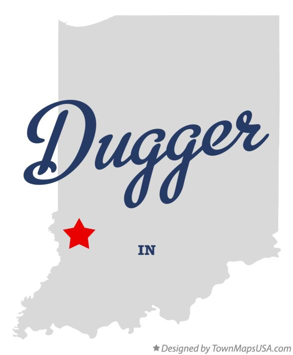 Map of Dugger Indiana IN