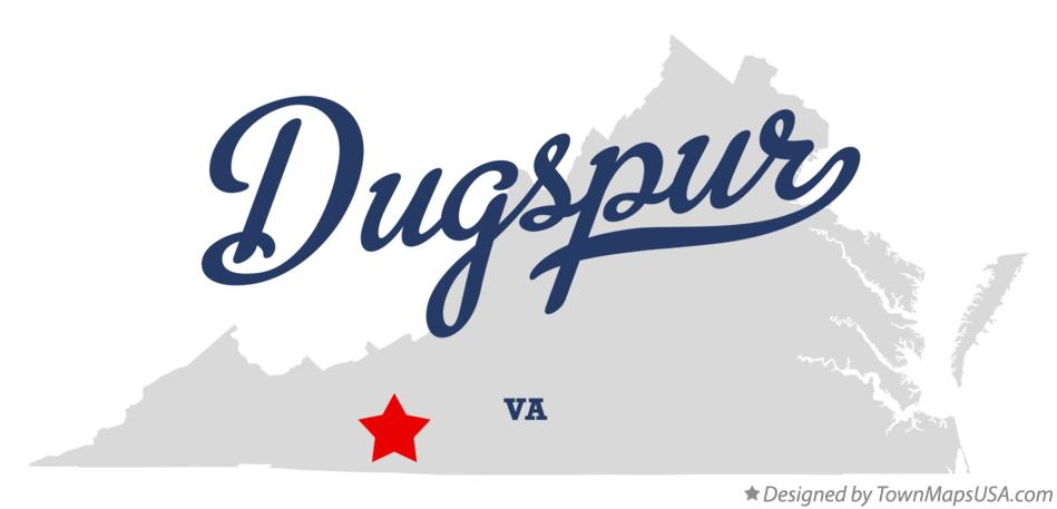 Map of Dugspur Virginia VA