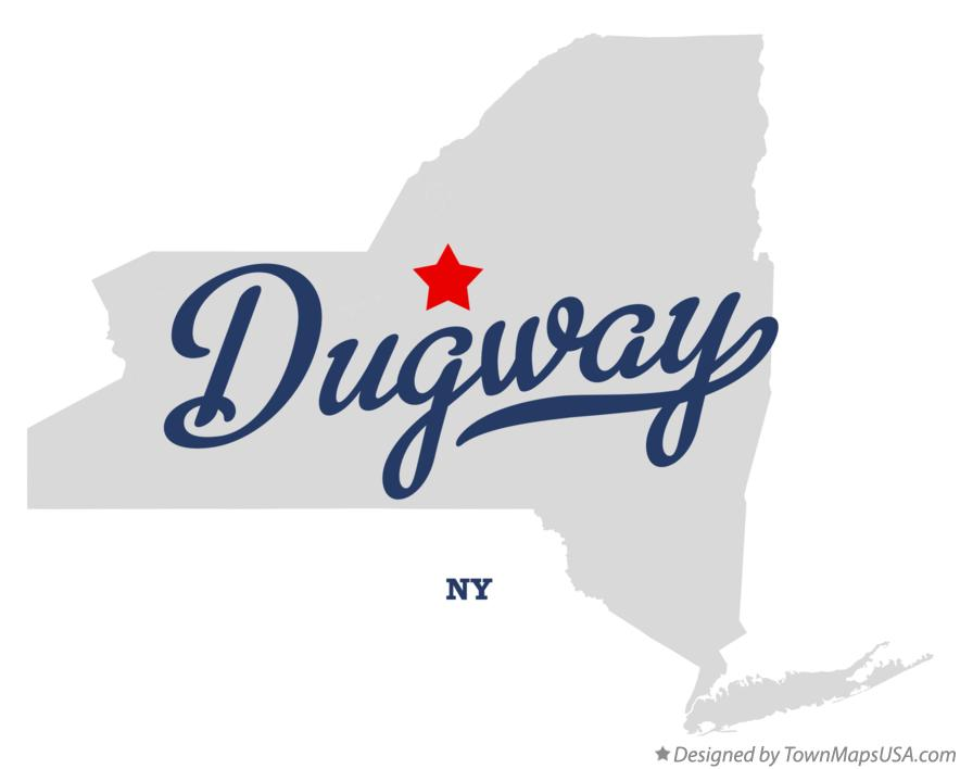 Map of Dugway New York NY