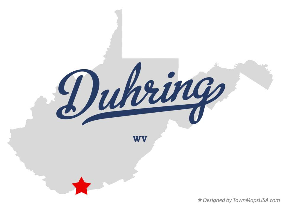 Map of Duhring West Virginia WV