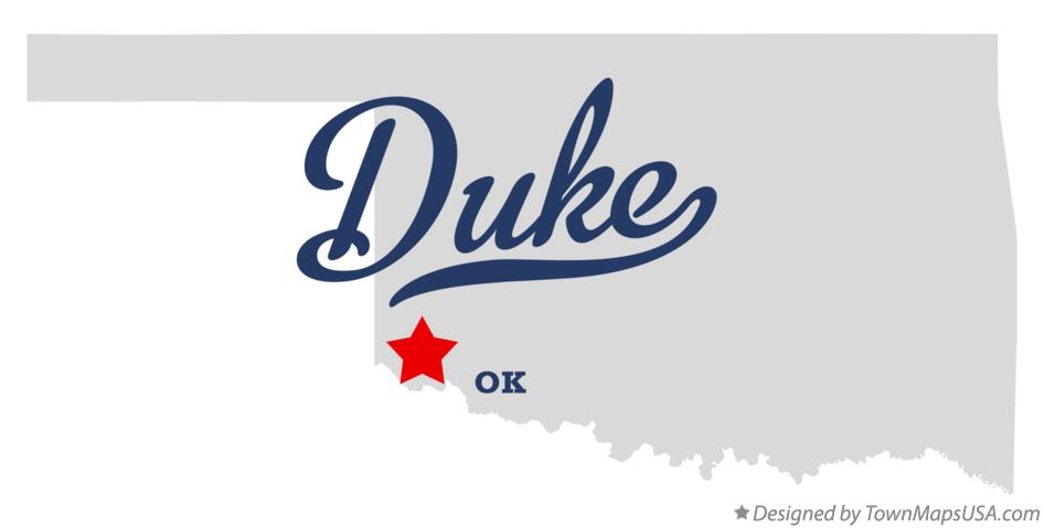 Map of Duke Oklahoma OK
