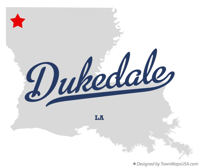 Map of Dukedale Louisiana LA