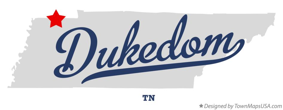 Map of Dukedom Tennessee TN