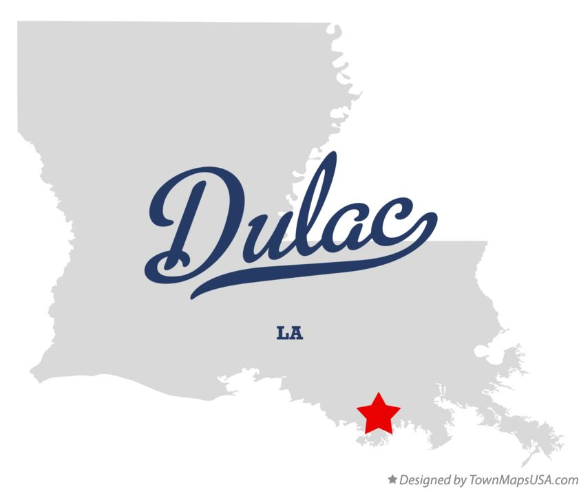 Map of Dulac Louisiana LA