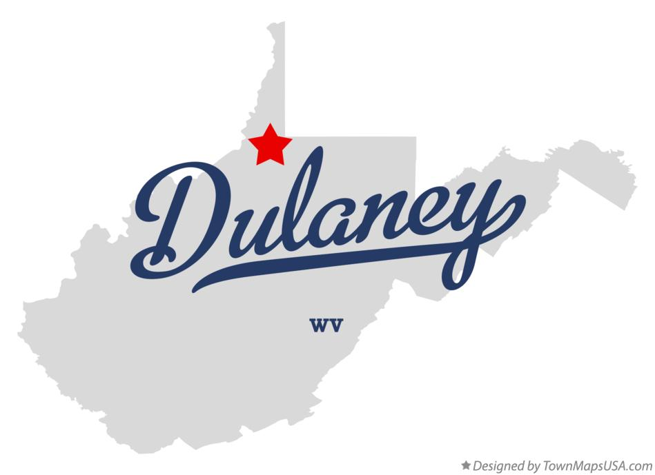 Map of Dulaney West Virginia WV