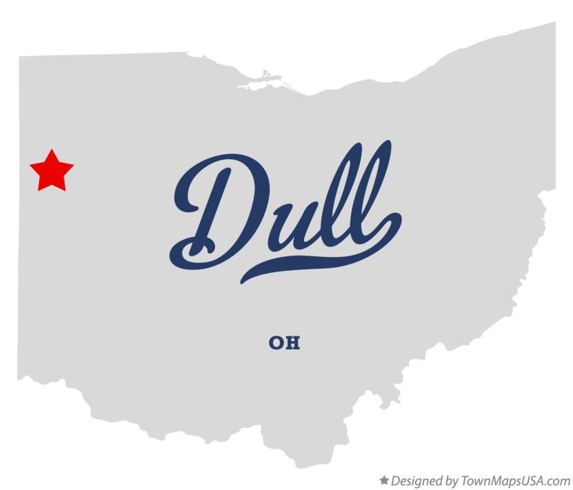 Map of Dull Ohio OH