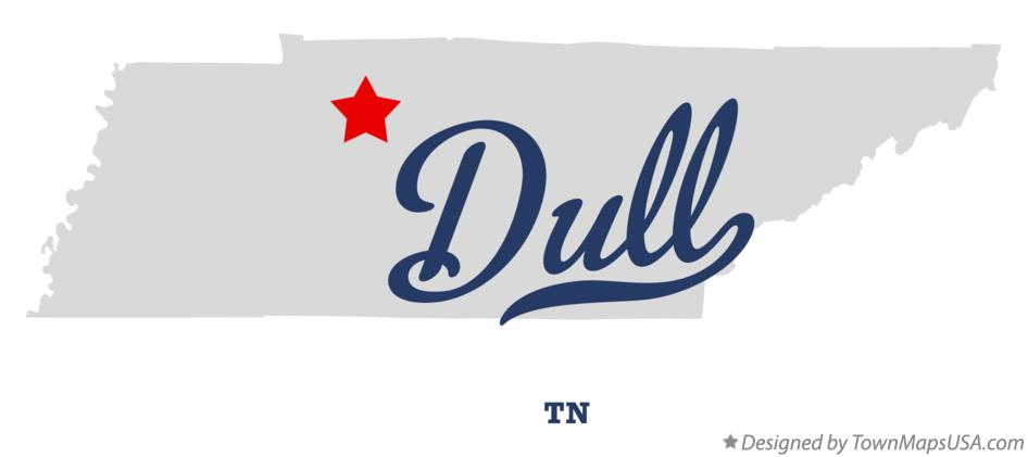 Map of Dull Tennessee TN