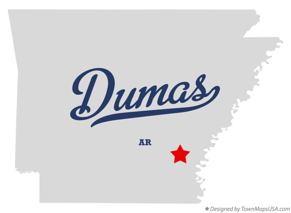 Map of Dumas Arkansas AR
