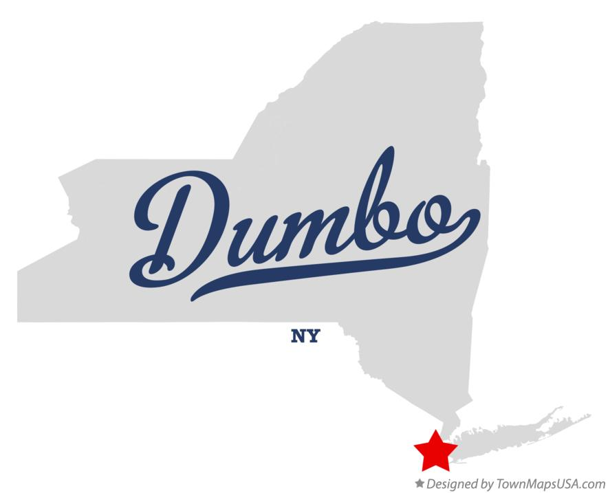 Map of Dumbo New York NY