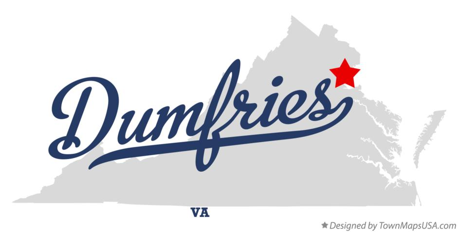 Map of Dumfries Virginia VA