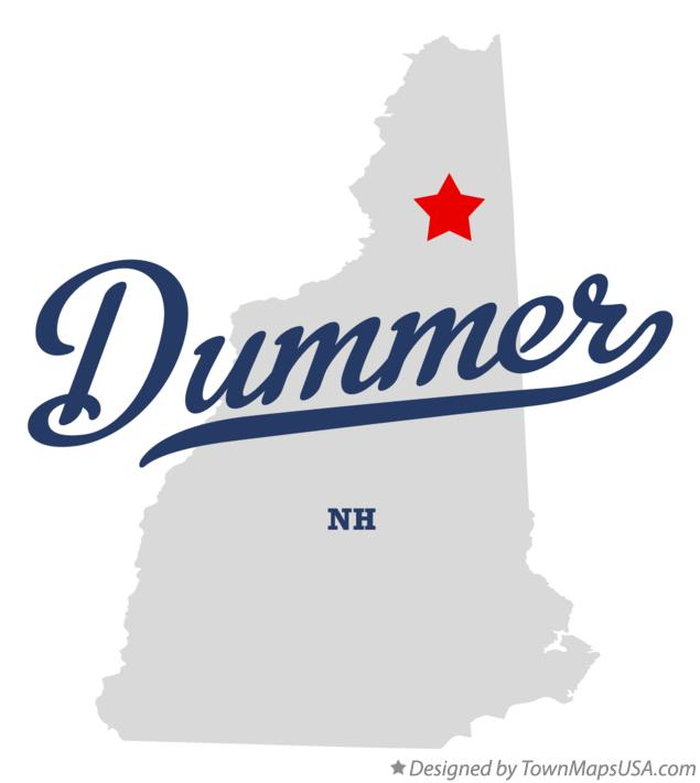 Map of Dummer New Hampshire NH