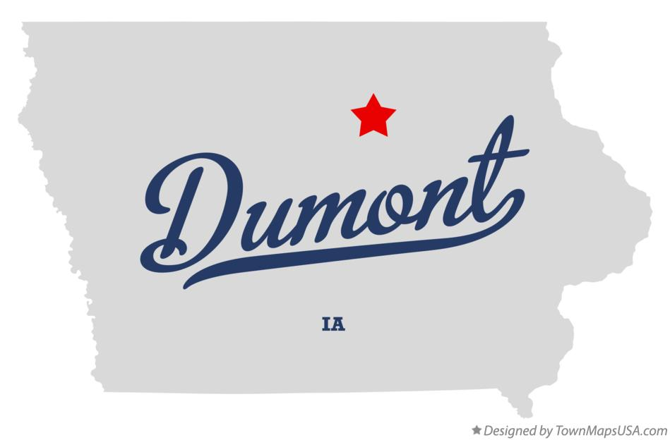 Map of Dumont Iowa IA