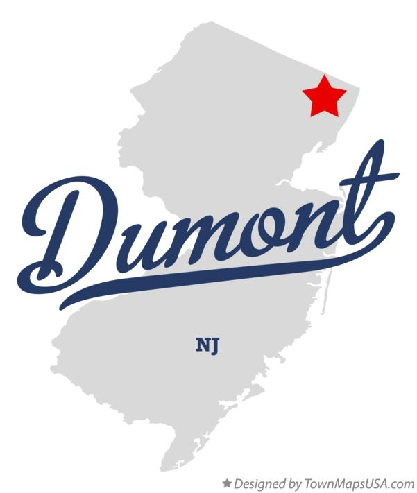 Map of Dumont New Jersey NJ