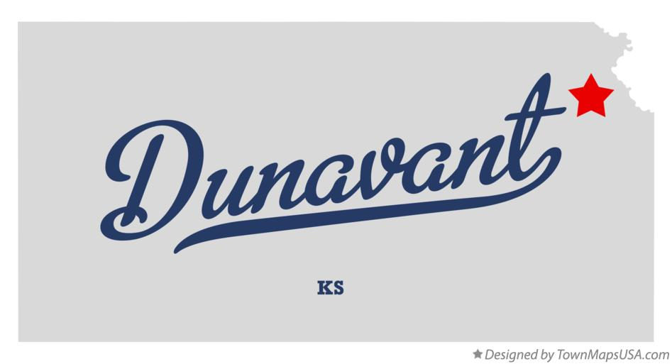 Map of Dunavant Kansas KS