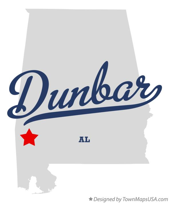 Map of Dunbar Alabama AL