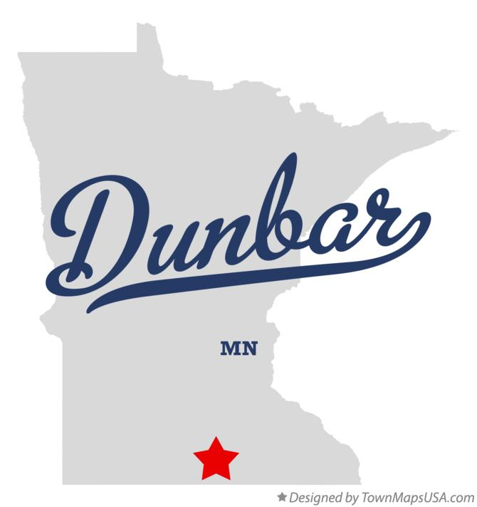 Map of Dunbar Minnesota MN
