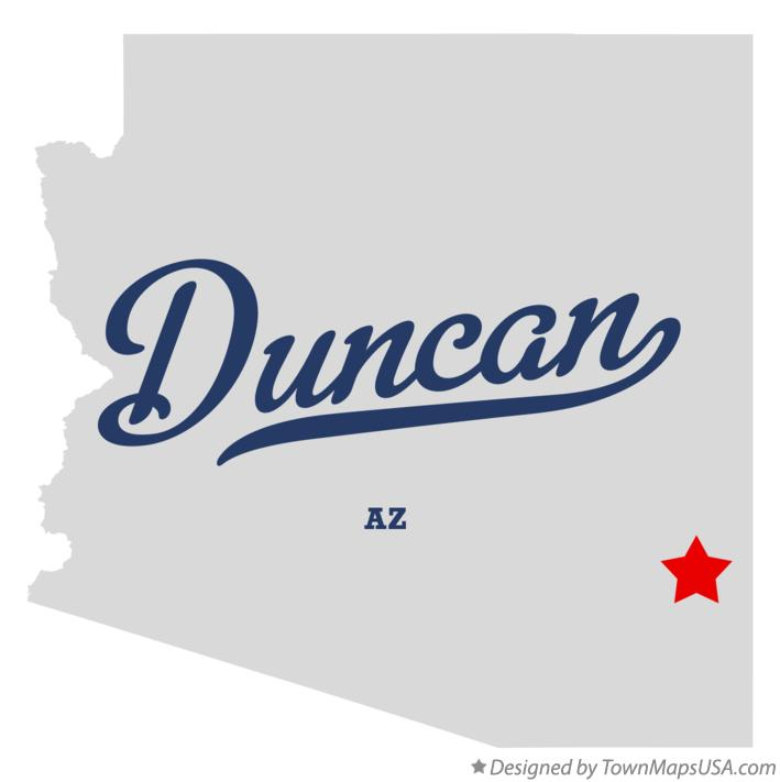 Map of Duncan Arizona AZ