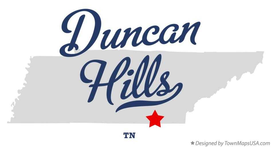 Map of Duncan Hills Tennessee TN