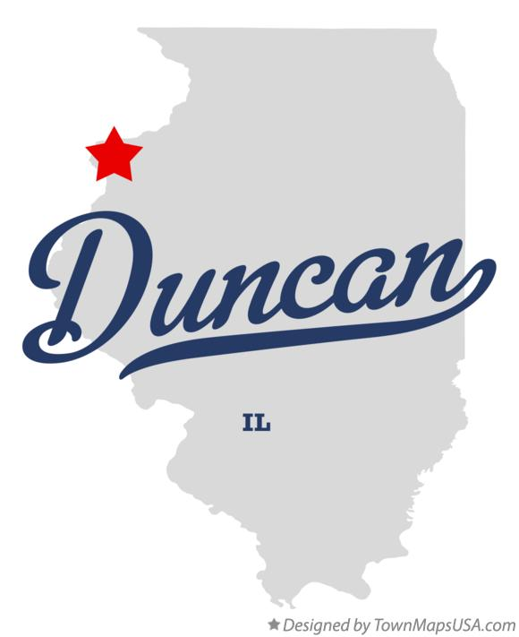 Map of Duncan Illinois IL