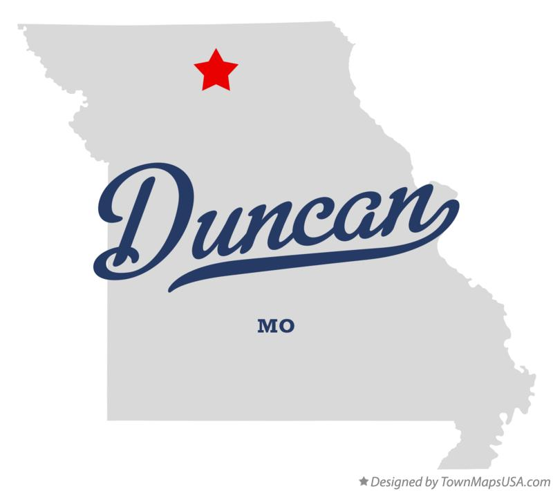 Map of Duncan Missouri MO