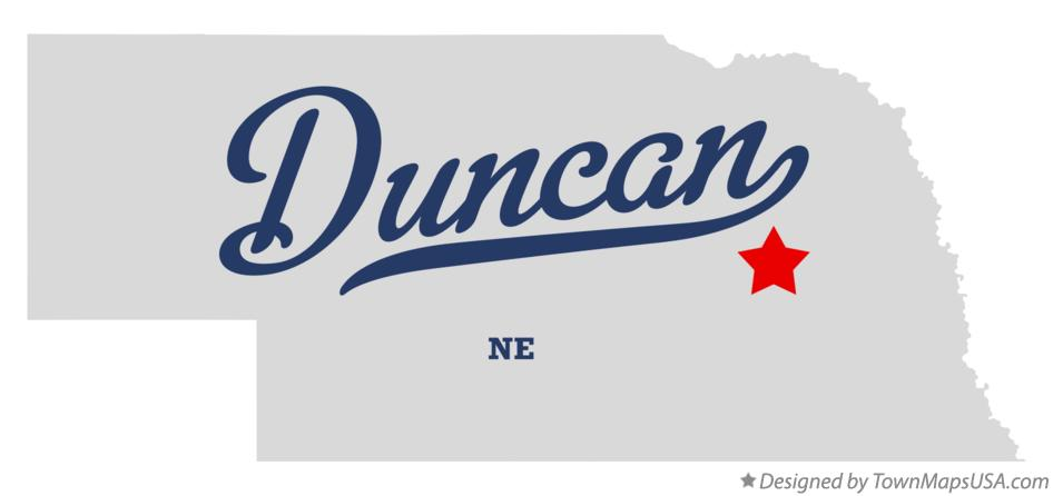 Map of Duncan Nebraska NE