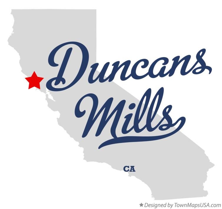 Map of Duncans Mills California CA