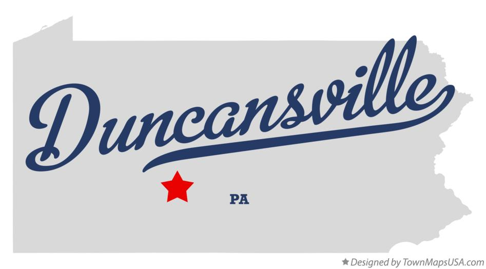 Map of Duncansville Pennsylvania PA