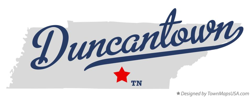 Map of Duncantown Tennessee TN