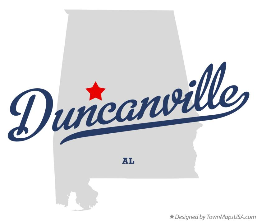 Map of Duncanville Alabama AL