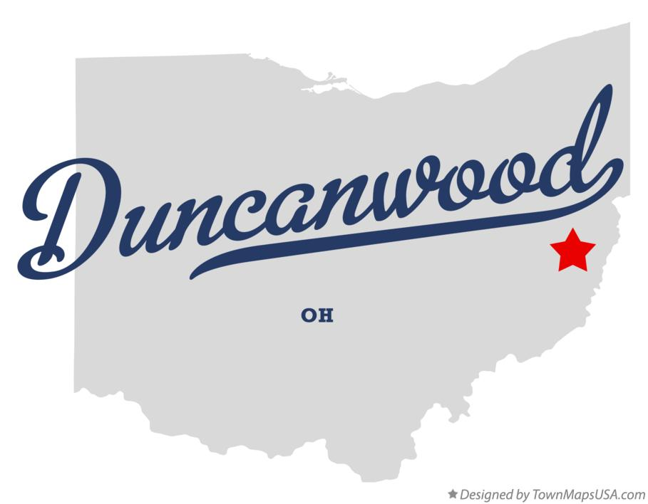 Map of Duncanwood Ohio OH