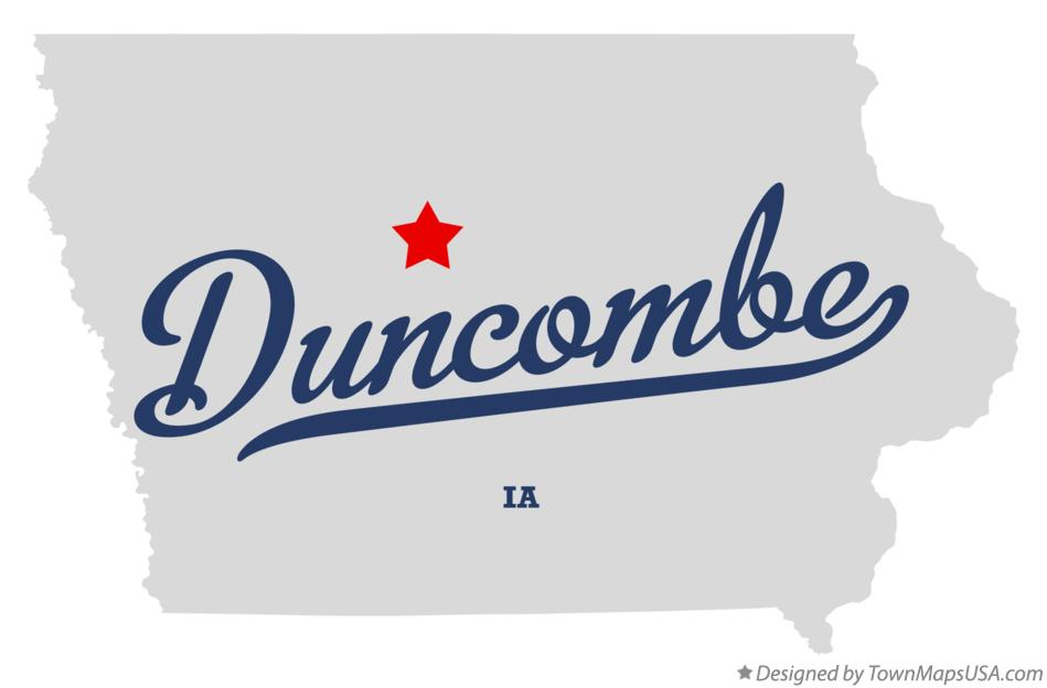 Map of Duncombe Iowa IA