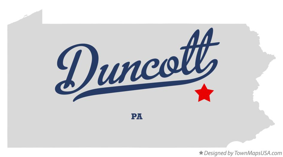 Map of Duncott Pennsylvania PA